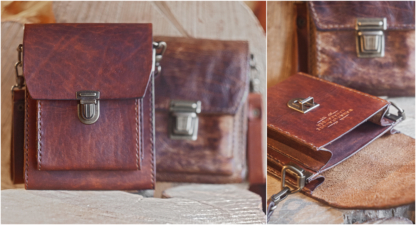 Belt pouch with two pockets