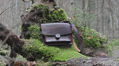 Leather briefcase with large capacious pockets