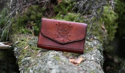 Light brown leather purse