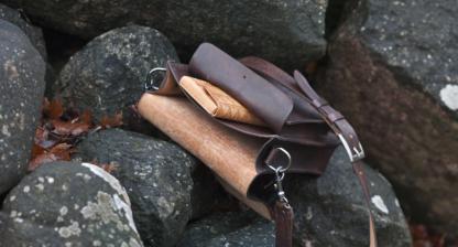 """Dark brown shoulder bag """"Half Of A Briefcase"""""""