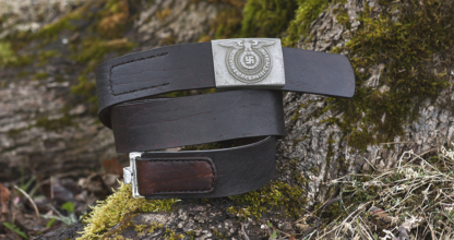 Leather belt for German army buckle