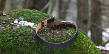 Leather belt for German military buckle