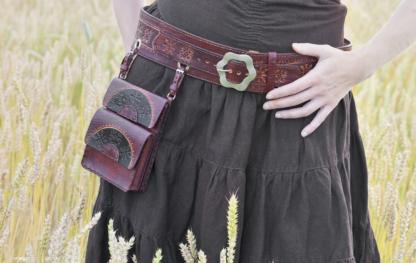 Bushcraft belt and bag set