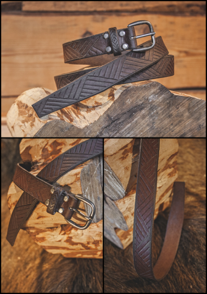 Coffee brown leather belt, handmade. In this case it is literally coffee brown belt because this belt got it's color from coffee.