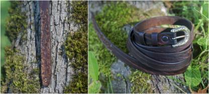 Leather belt for medieval costume