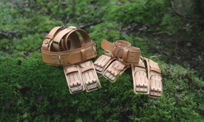 Set of leather straps