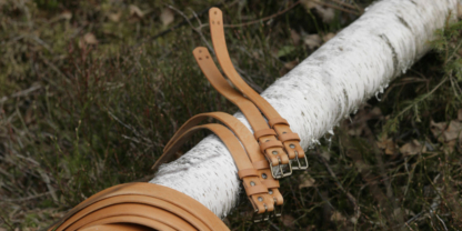 Leather straps set for Roorkhee chair, natural finish.