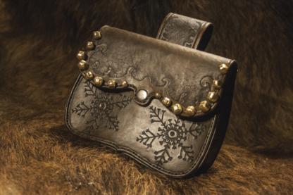 Leather belt set for Santa Claus