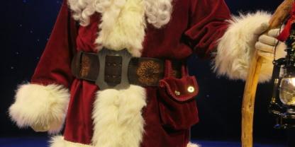 Leather belt for Santa Claus