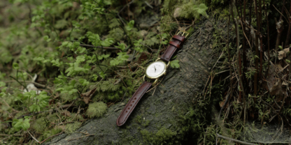 Hand crafted vegetable tanned leather watch strap