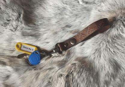 Key holder for a belt