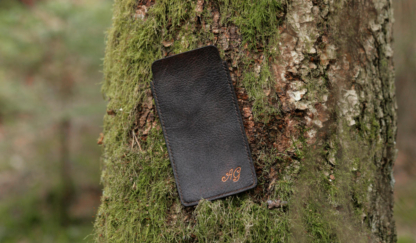 Leather phone sleeve with initials