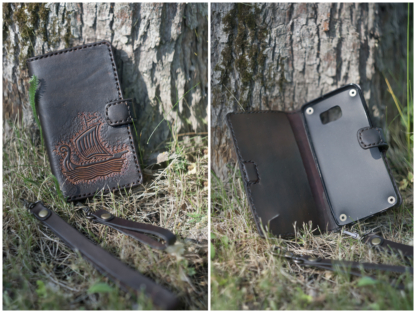 Leather phone covers with The Lennuk