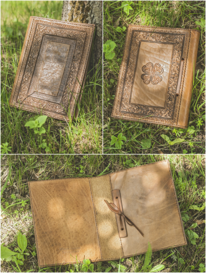 Leather covers for a cookbook