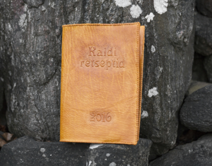 Leather cookbook covers