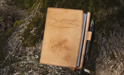 Leather notebook covers
