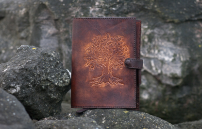 Notebook covers with an Oak tree