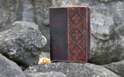 Leather notebooNotebook covers with Viking cross k covers