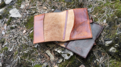 Leather notebook covers, inside