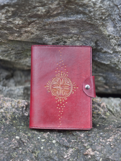 Red leather notebook covers
