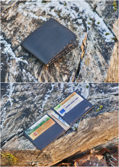 Card wallet with eight pockets