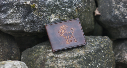 Card case with a goat