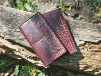 Men's leather card-case and wallet set