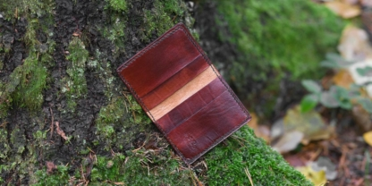 Leather card case, decorated by runes - inside