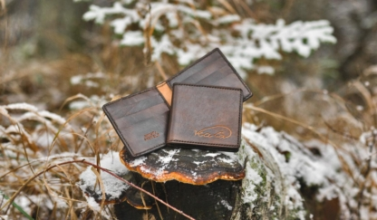 Leather card wallets with eight pockets