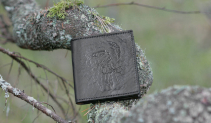 Black small leather wallet