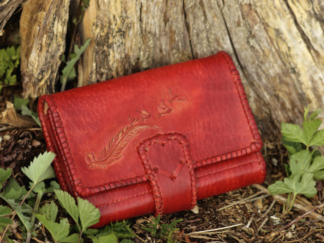 Large leather wallets for women