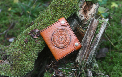 Leather wallet with snakes image