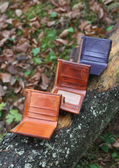 Leather wallets with two notes pockets