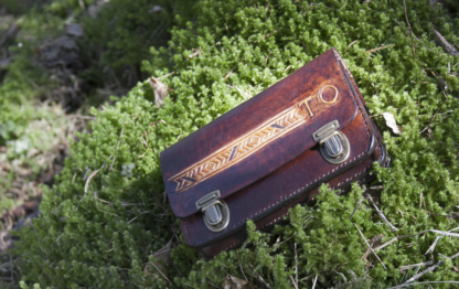 Handcrafted men's leather wallet
