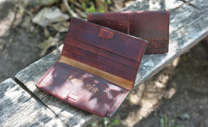 Men's leather wallet and card-case set
