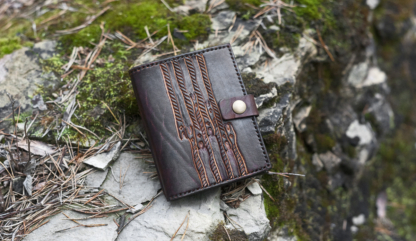 """Leather wallet """"Striped Dragons"""""""