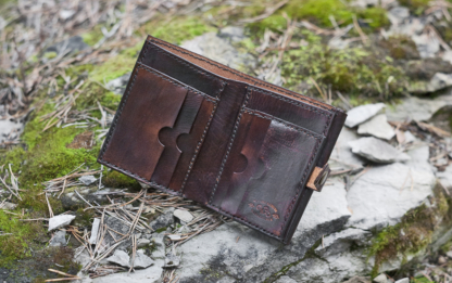 """Leather wallet """"Striped Dragons"""" inside"""