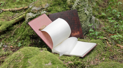 Leather cased photo albums