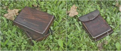 Leather photo box