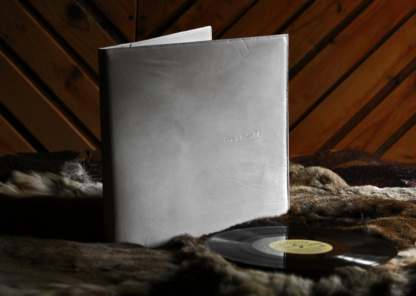 Leather covers for vinyl records