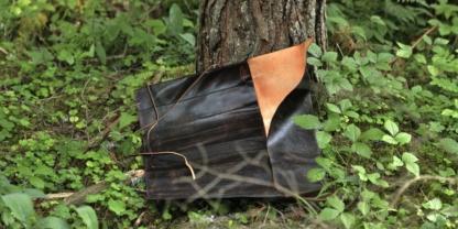 Leather knife roll inside
