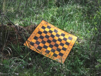 Leather chess board