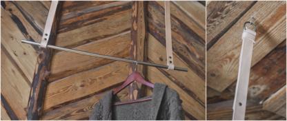 Hanging coat rack