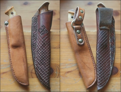 Leather goods with oiled finish