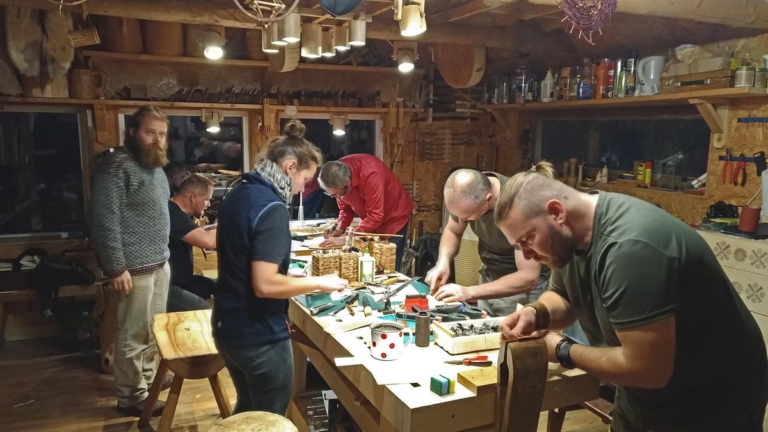 Leather craft course for grown-ups.