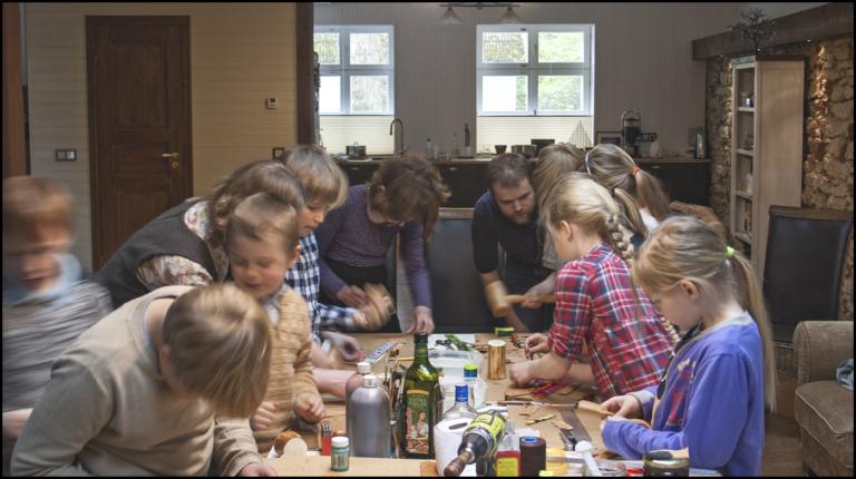 Leather craft workshop for Keila Lätte school students