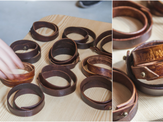 Leather craft workshop for students